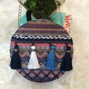 Handbags - Round Boho Tassel Bag Bali Circle Crossbody